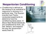 neopavlovian conditioning