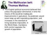 the malthusian belt thomas malthus