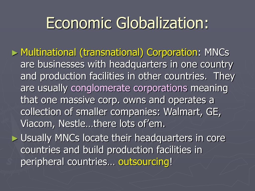Economic Globalization: