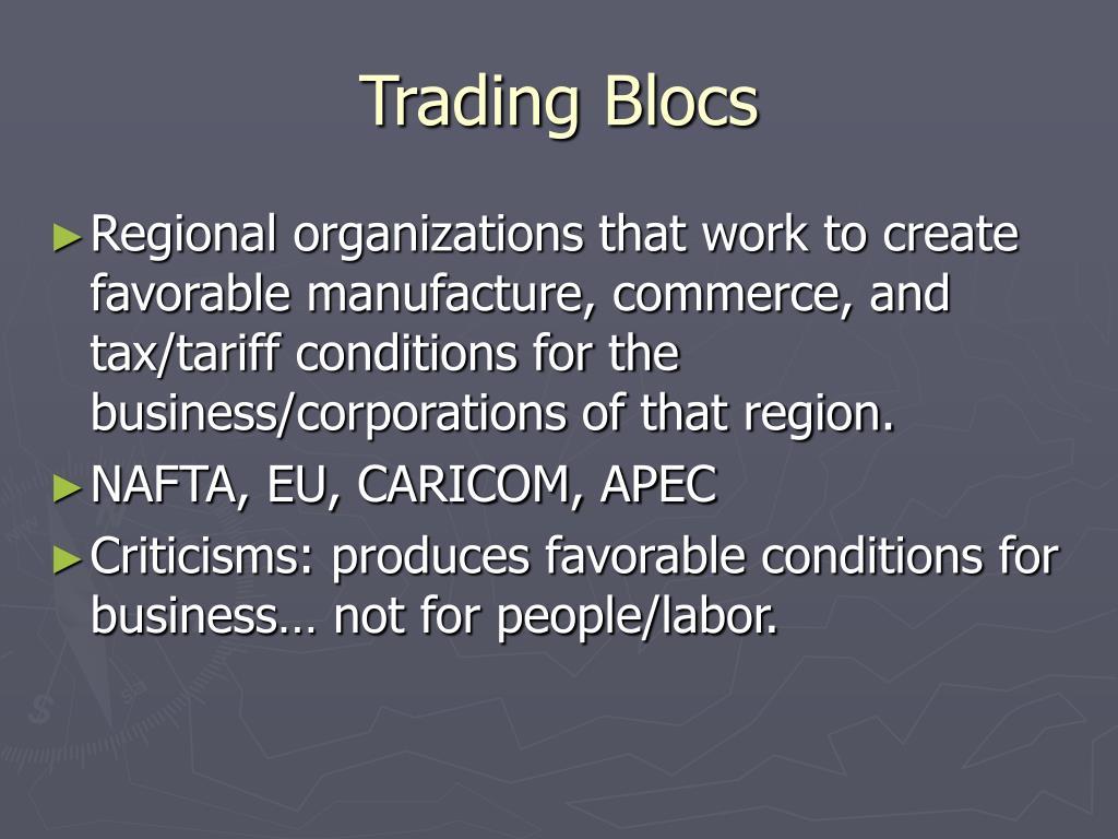 Trading Blocs