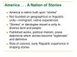 america a nation of stories