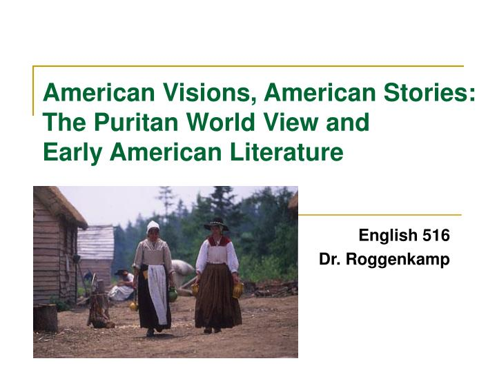 american visions american stories the puritan world view and early american literature n.