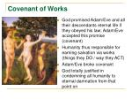 covenant of works