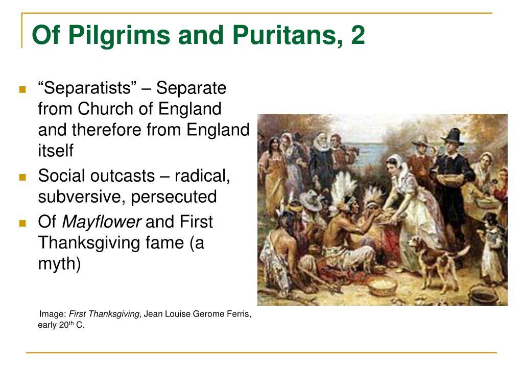 the puritan myth