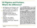 of pilgrims and puritans what s the difference