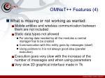 omnet features 4