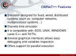 omnet features