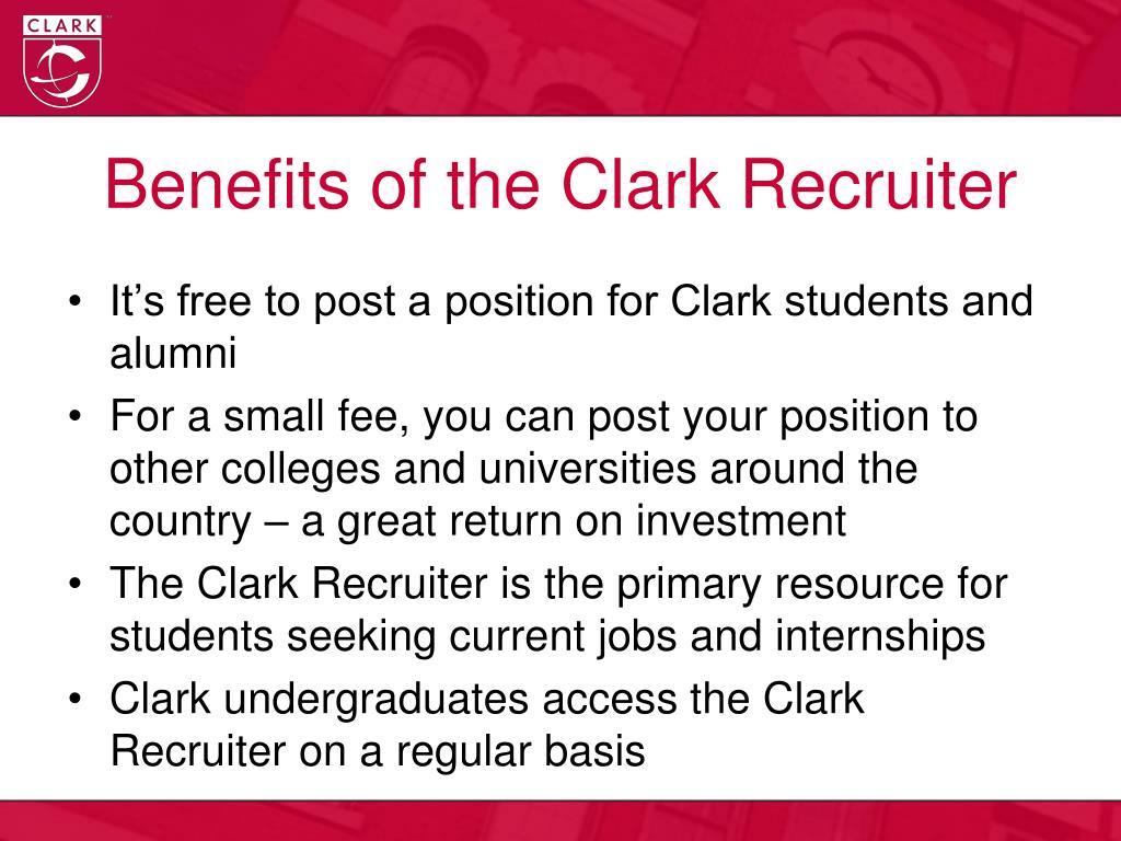 Benefits of the Clark Recruiter