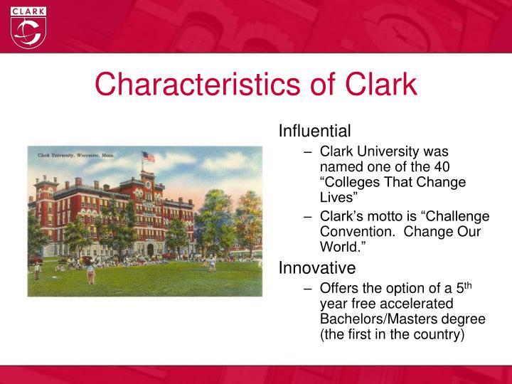 Characteristics of clark
