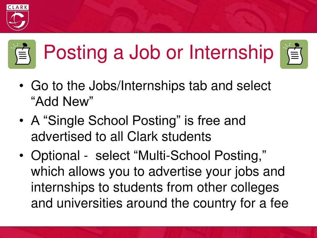 Posting a Job or Internship