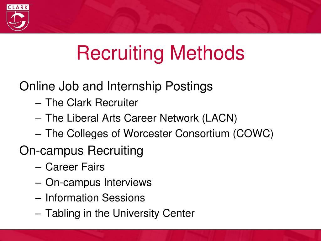 Recruiting Methods