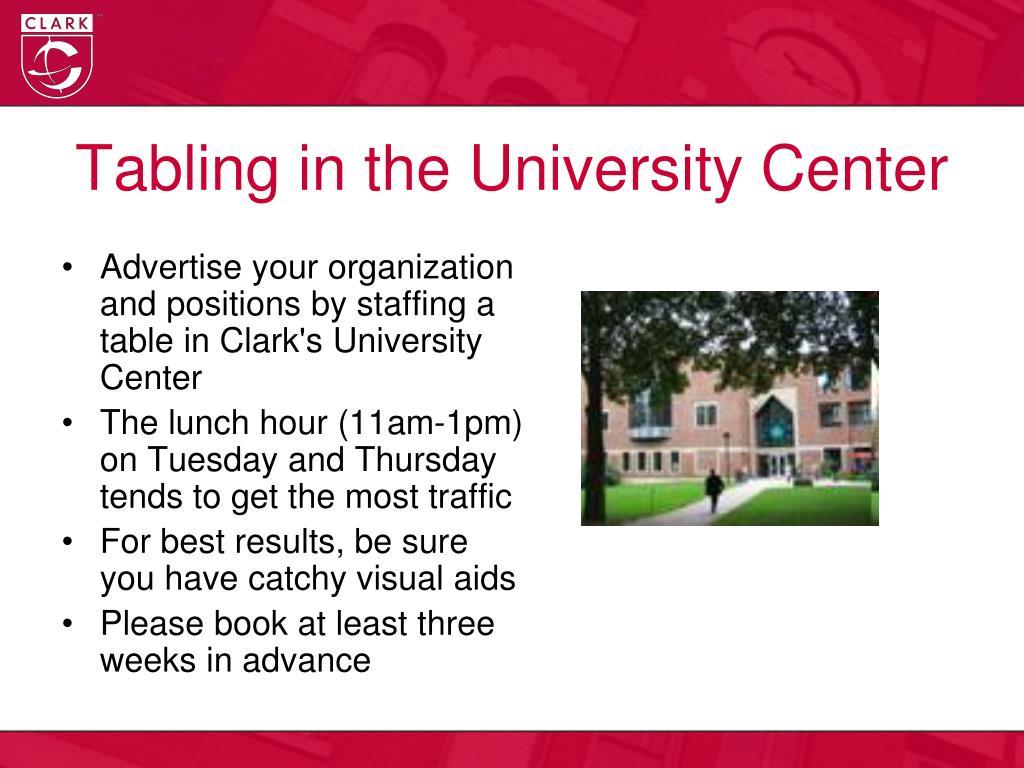Tabling in the University Center