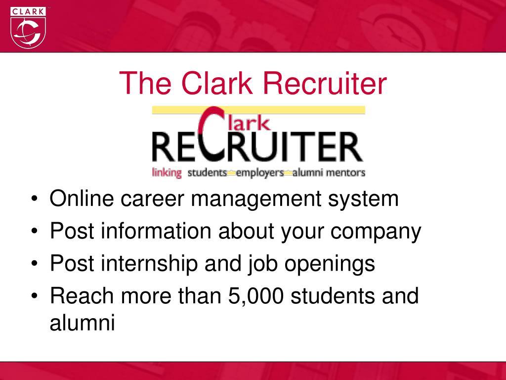 The Clark Recruiter