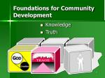 foundations for community development
