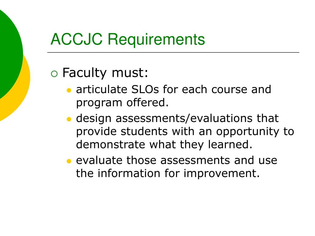 ACCJC Requirements