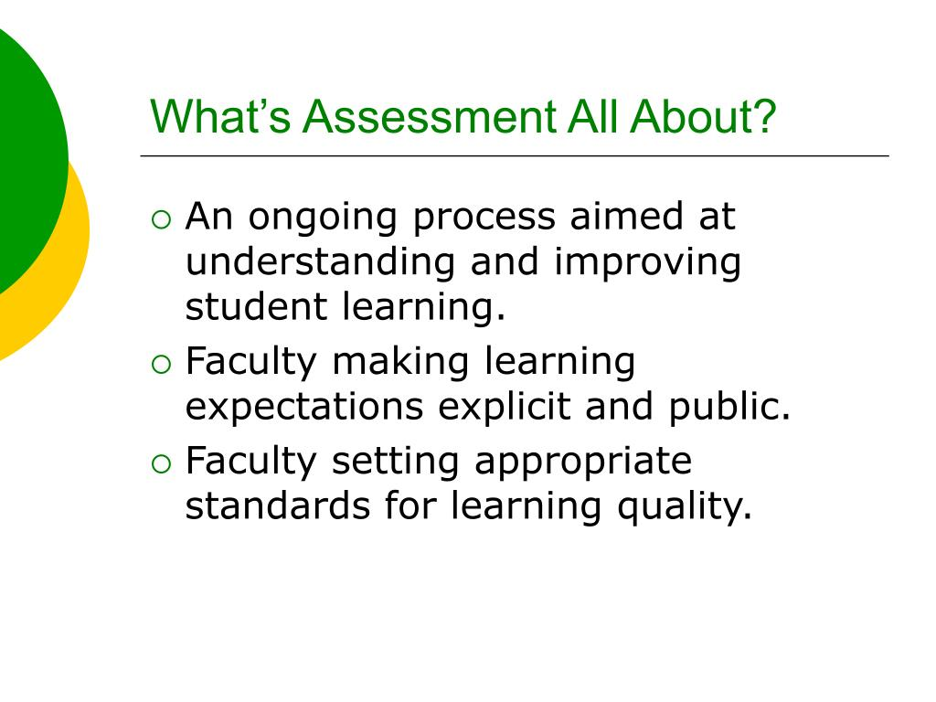 What's Assessment All About?