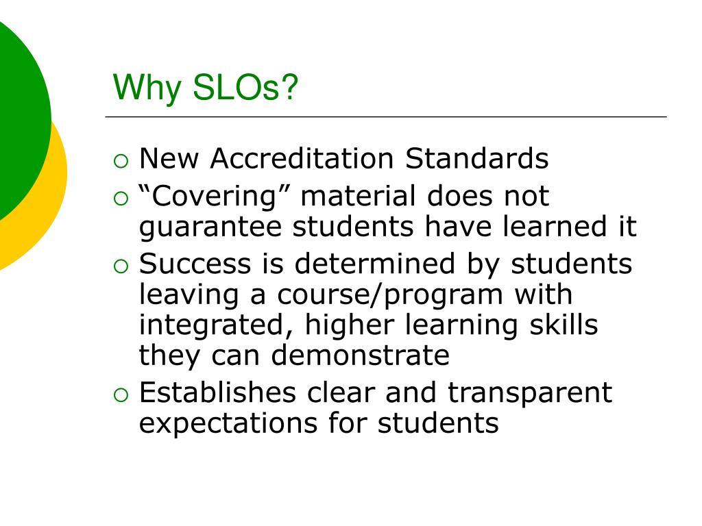 Why SLOs?