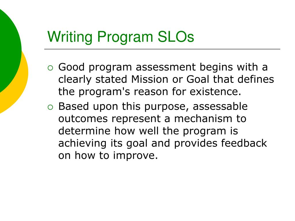 Writing Program SLOs
