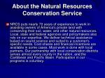 about the natural resources conservation service