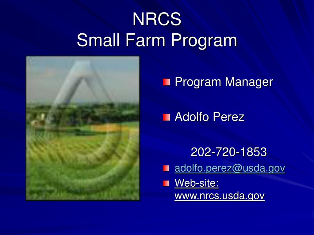nrcs small farm program