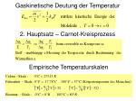 gaskinetische deutung der temperatur