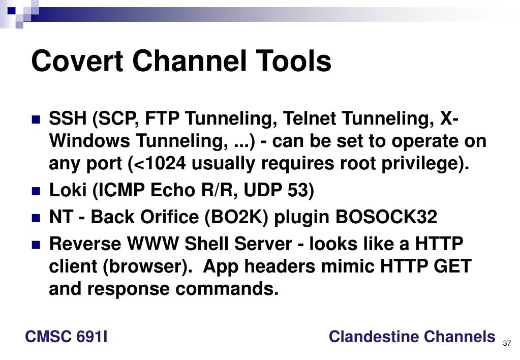 Covert Channel Tools