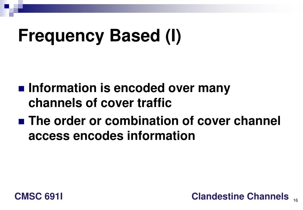 Frequency Based (I)