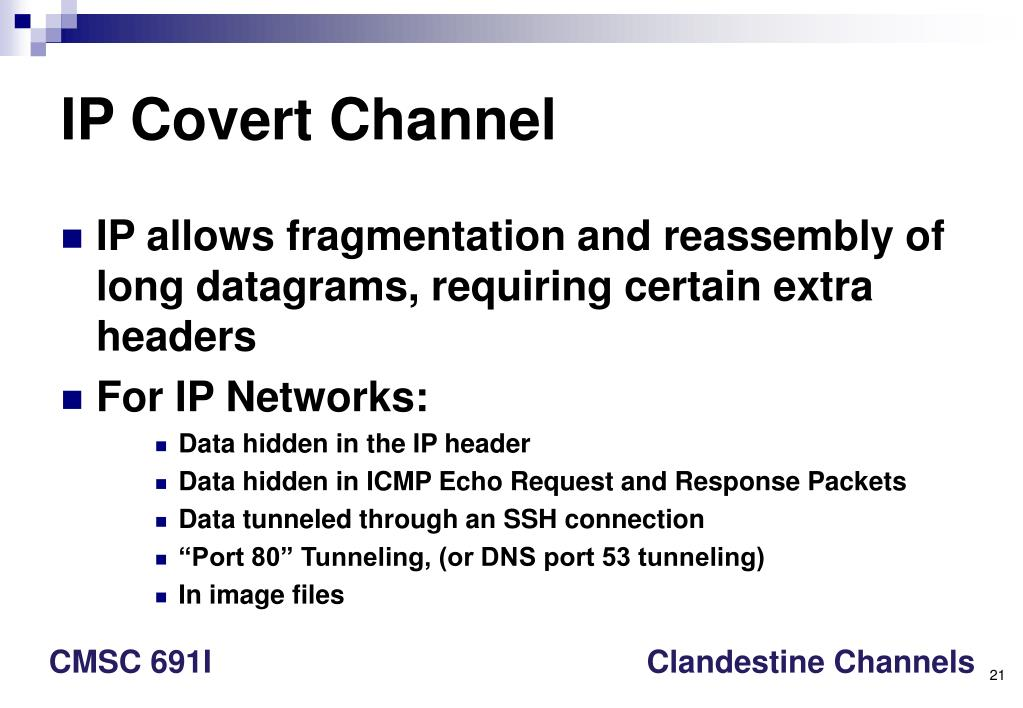 IP Covert Channel