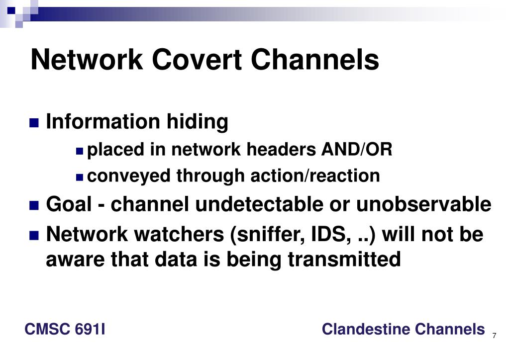 Network Covert Channels