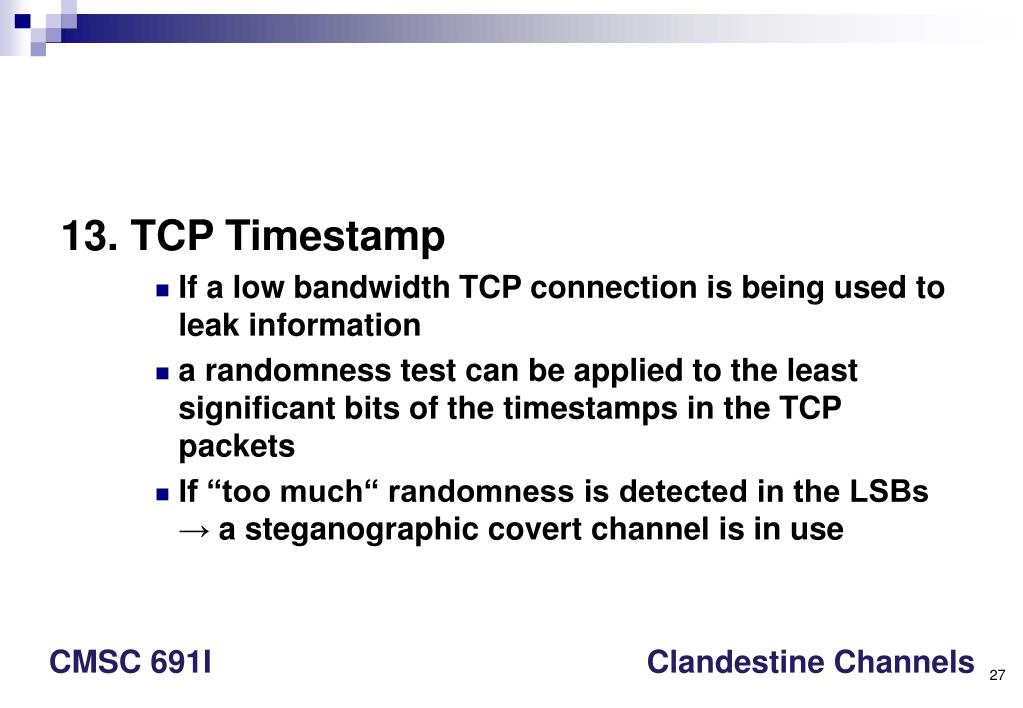 13. TCP Timestamp