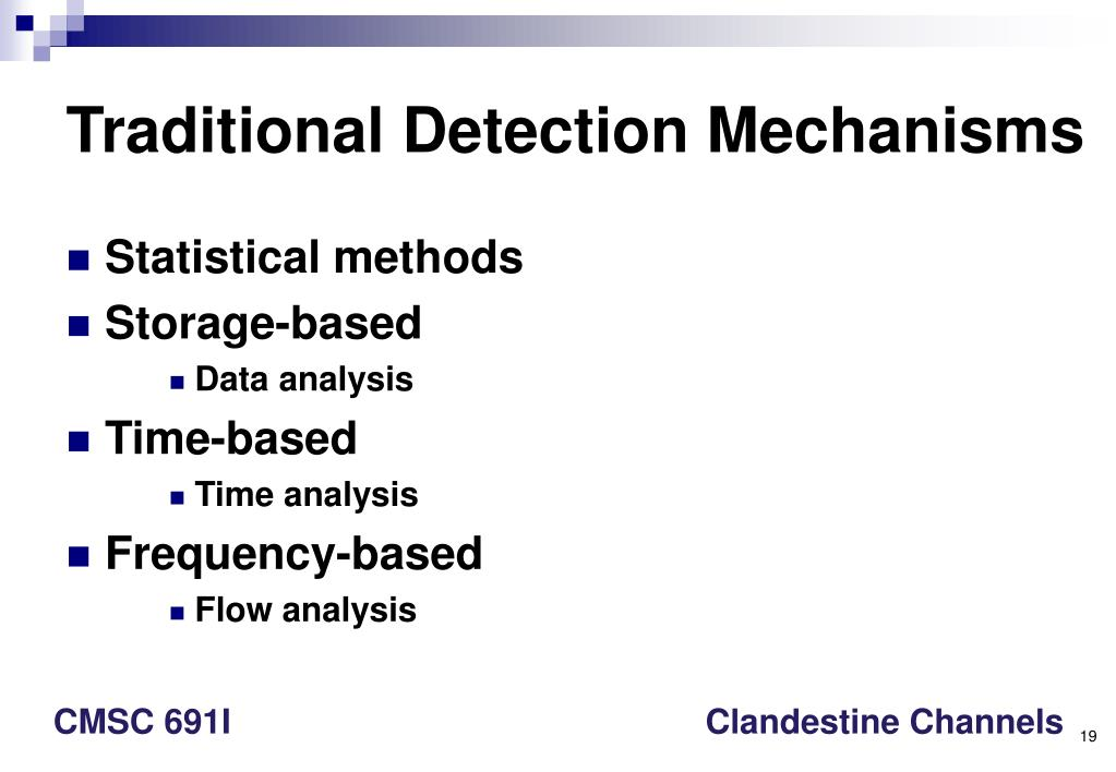 Traditional Detection Mechanisms
