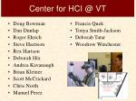center for hci @ vt
