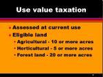 use value taxation