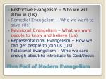 five foci of modern evangelism