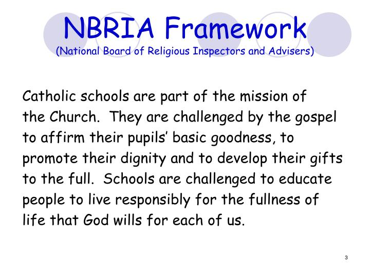 Nbria framework national board of religious inspectors and advisers