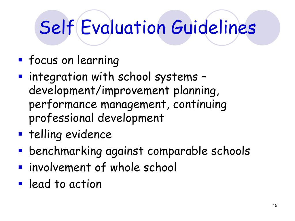 Self Evaluation Guidelines