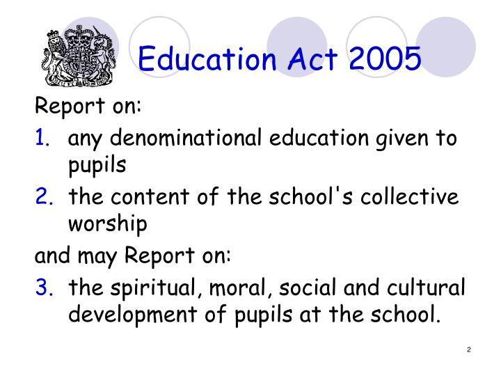 Education Act 2005