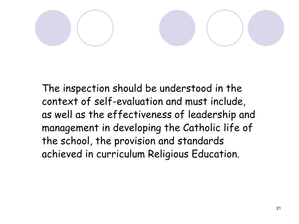 The inspection should be understood in the