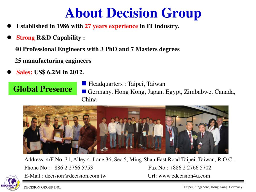 About Decision Group