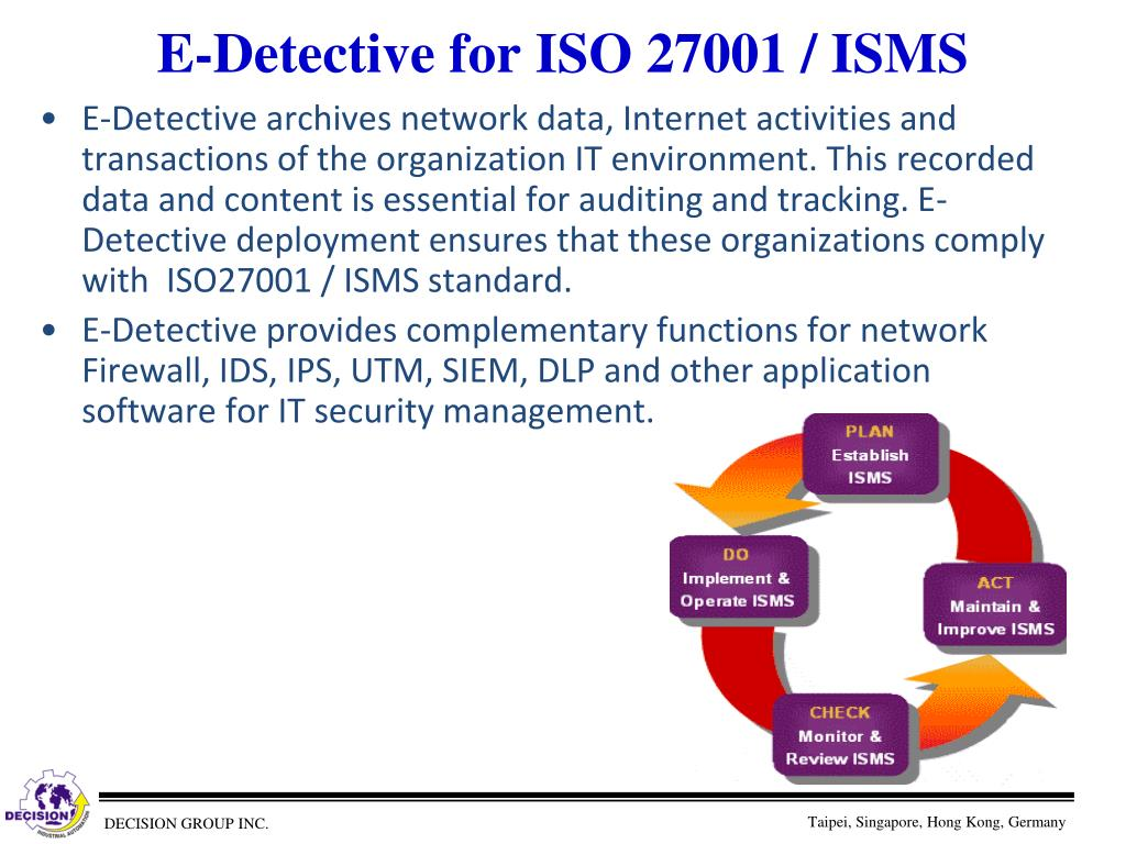 E-Detective for ISO 27001 / ISMS