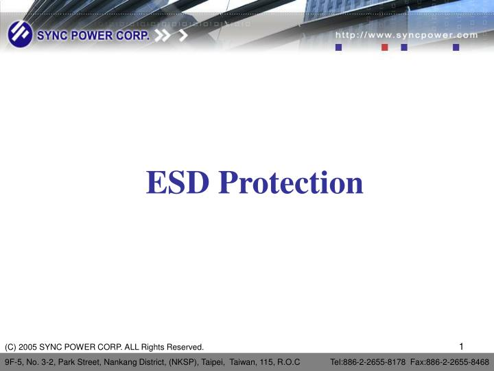 esd protection n.