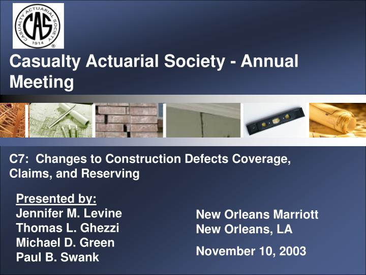 casualty actuarial society annual meeting n.