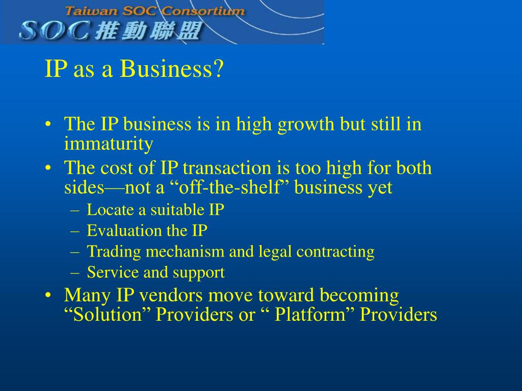 IP as a Business?