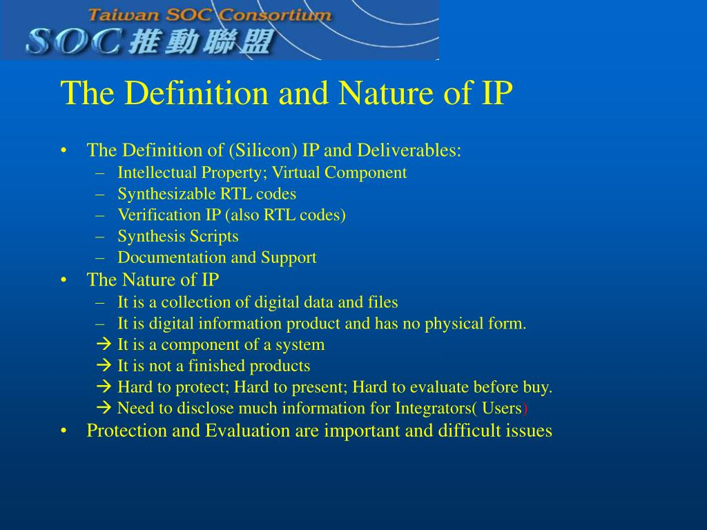 The Definition and Nature of IP