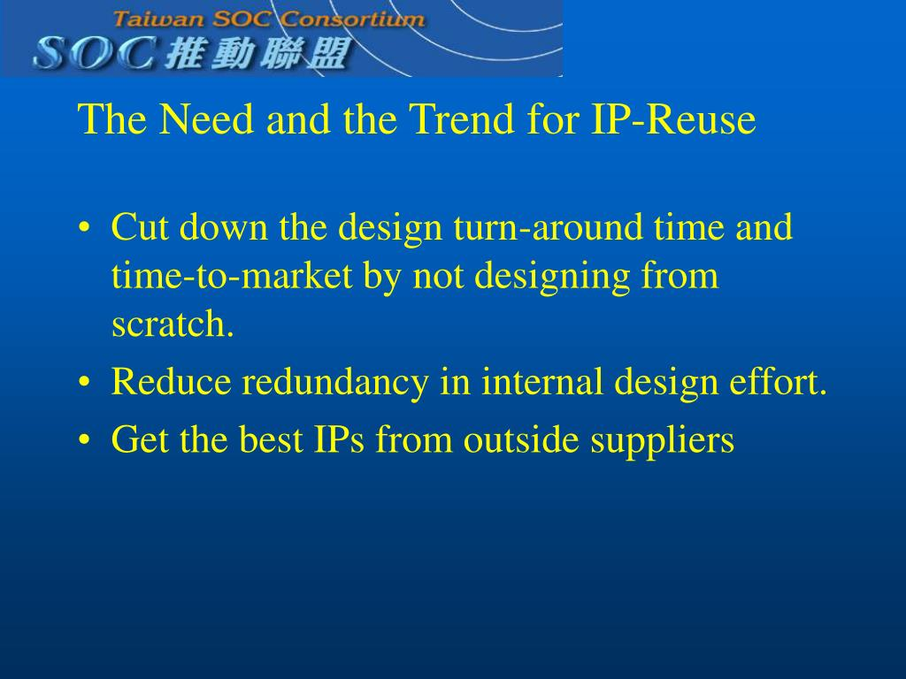 The Need and the Trend for IP-Reuse