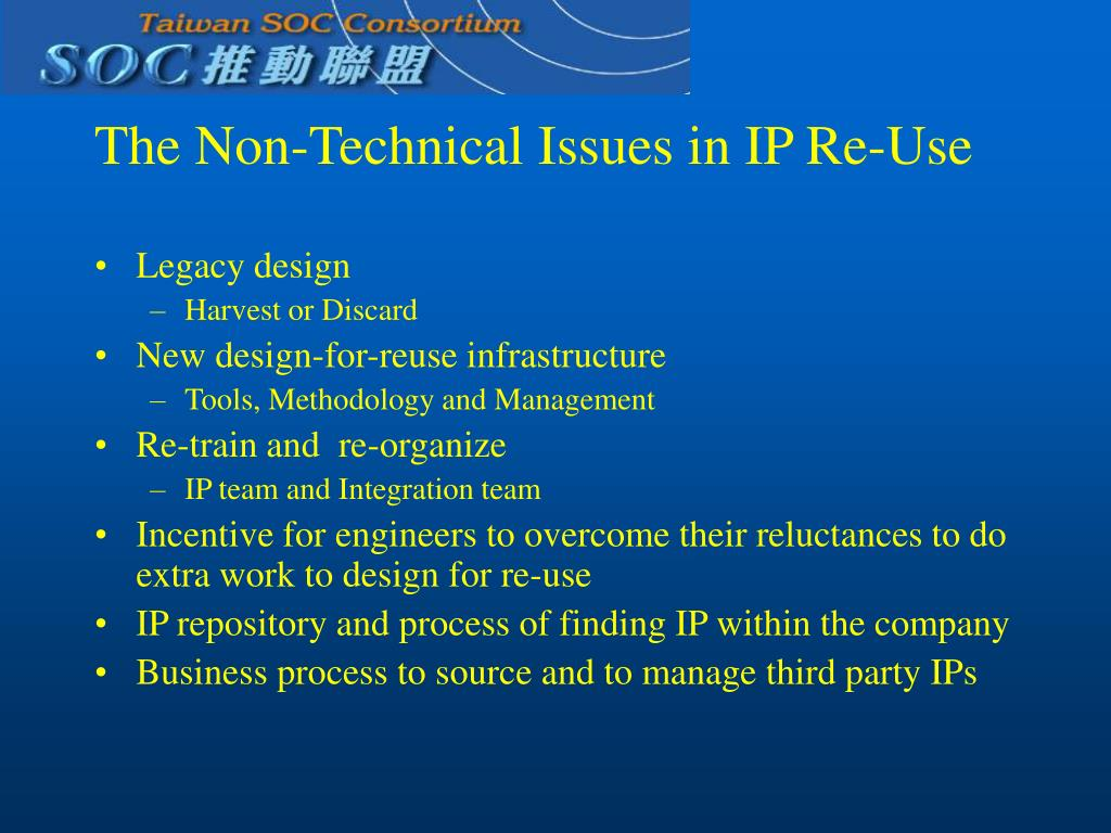 The Non-Technical Issues in IP Re-Use