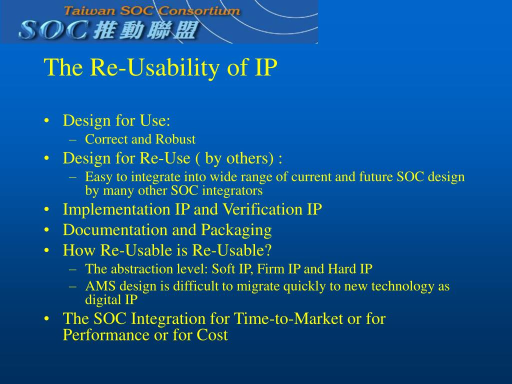 The Re-Usability of IP