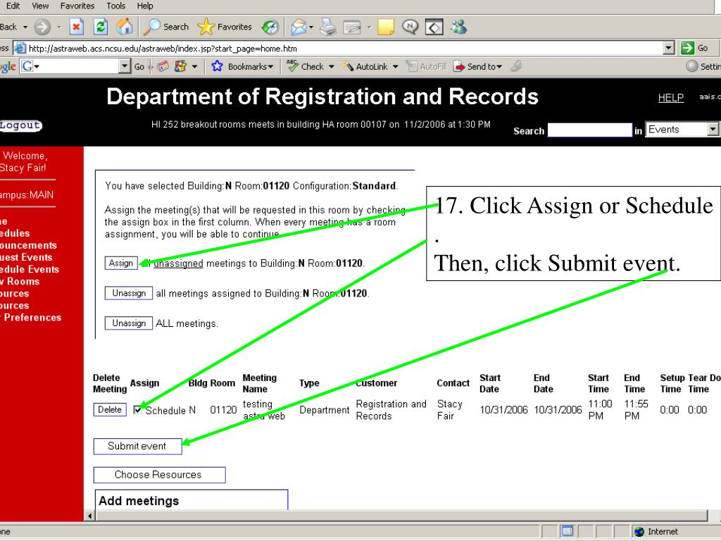 17. Click Assign or Schedule .