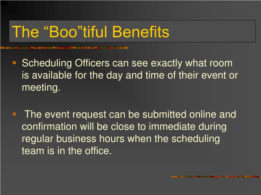 """The """"Boo""""tiful Benefits"""