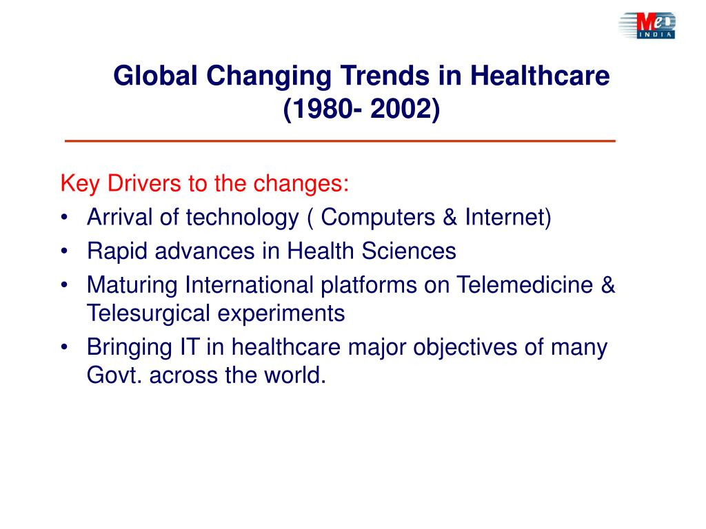 Global Changing Trends in Healthcare